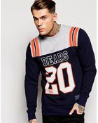 Majestic Chicago Bears Crew Sweatshirt - Lyst
