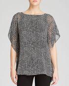 Calvin Klein Trellis Print Kimono Top - Lyst