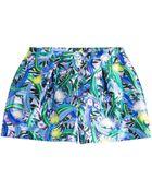 Peter Pilotto Silk Printed Shorts - Lyst