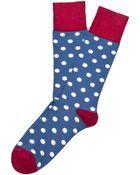 Etiquette Dotted Socks - Lyst