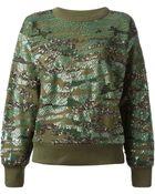 Isabel Marant Sequin Sweatshirt - Lyst