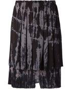 Raquel Allegra Abstract Print Layered Skirt - Lyst
