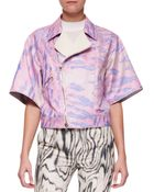 3.1 Phillip Lim Short Kimono-Sleeve Moto Jacket - Lyst