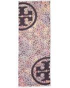 Tory Burch Watercolor Leopard-print Scarf - Lyst