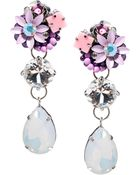 Asos Opal Gem Drop Earrings - Lyst