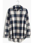 Madewell Oversized Boyshirt In Primary Plaid - Lyst