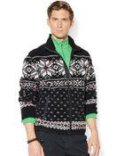 Polo Ralph Lauren Snowflake Zip-Up Sweater - Lyst