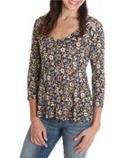 Lucky Brand Floral Print Swing Top - Lyst