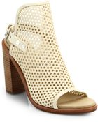 Rag & Bone Wyatt Perforated Leather Sandals - Lyst