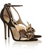 Jimmy Choo Mantle Embellished Suede Sandals - Lyst
