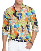 Ralph Lauren Polo Paisley Poplin Shirt - Regular Fit - Lyst