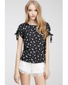 Forever 21 Floral Print Blouse - Lyst
