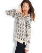 Maison Jules Polka-Dot Crew-Neck Sweater - Lyst