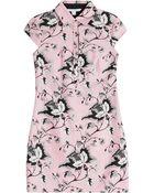Diane von Furstenberg Morgan Printed Wool-Silk Dress - Lyst