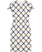 Versus  Printed Jersey-Crepe Mini Dress - Lyst
