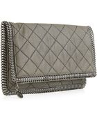 Stella McCartney Falabella Quilted Fold Over Clutch - Lyst