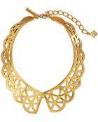 Oscar de la Renta Scalloped Web Necklace - Lyst