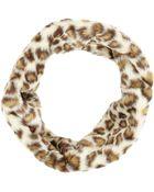 Hat Attack Leopard-Print Faux Fur Twist Infinity Cowl - Lyst