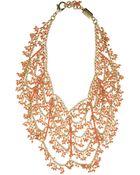 Rosantica Coral Bib Necklace - Lyst