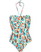 Petit Bateau One-Piece Swimsuit - Lyst