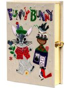Olympia Le-Tan Funny Bunny Embroidered Book Clutch - Lyst