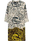 Etro Printed Silk Crepe De Chine Dress - Lyst