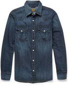 Jean Shop Washed-Denim Shirt - Lyst