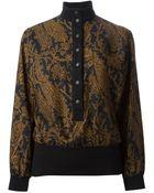 Jean Louis Scherrer Vintage Paisley Print Skirt Suit - Lyst