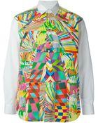 Comme des Garçons Abstract Print Shirt - Lyst