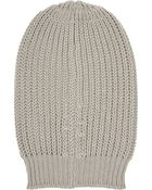 Rick Owens Oversized Ribbed Wool Beanie - Lyst