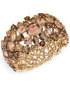 Carolee Gold-Tone Stone Hinged Cuff Bracelet - Lyst