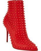 Christian Louboutin Snaklita Studded Ankle Boots - Lyst
