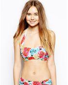 Seafolly Geisha Bandeau Bustier Bikini Top - Lyst