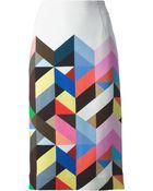 Preen By Thornton Bregazzi Tilda Printed Crepe Pencil Skirt - Lyst