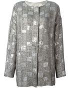 Armani Sequins Embellished Woven Jacket - Lyst