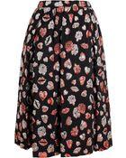 MSGM Lurex Lips Aline Skirt - Lyst