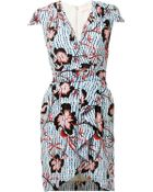 Matthew Williamson Climbing Hibiscus Silk Wrap Dress - Lyst