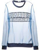 Kenzo Paris Sheer Sweatshirt - Lyst