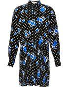 Thakoon Addition Printed Pintucked Silk Dress - Lyst