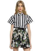 Dolce & Gabbana Striped Cotton Poplin Shirt - Lyst