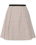 Band of Outsiders Windowpane Checked Stretch-Cotton Skirt - Lyst