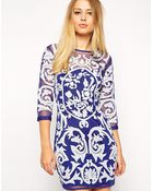Asos Baroque Embroidered Shift Dress - Lyst