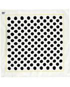 Canali Polka Dot Pocket Square - Lyst