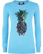 Markus Lupfer Rainbow Pineapple Sequin Sweater - Lyst