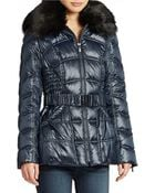 Laundry By Shelli Segal Faux Fur Trimmed Ski Jacket - Lyst