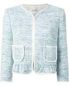 Armani Contrast Trim Bouclé Jacket - Lyst