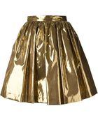 MSGM Pleated Skirt - Lyst