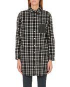 Maje Flannel Shirt Dress - Lyst