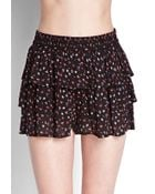 Forever 21 Tiered Floral Print Shorts - Lyst
