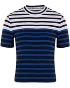 T By Alexander Wang Blue Engineered Stripe Top - Lyst